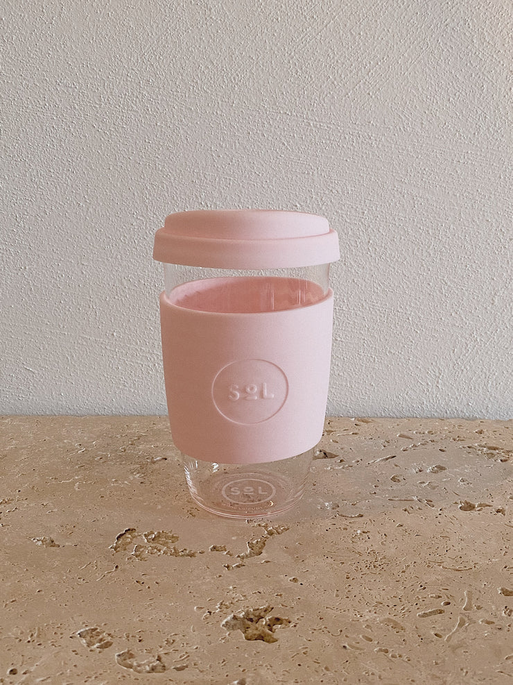SoL Reusable Glass Cup Perfect Pink (16oz)