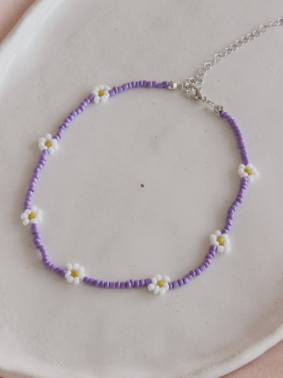 Lilac Daisy Necklace