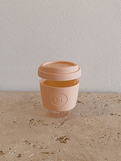 SoL Reusable Glass Cup Paradise Peach (12oz)