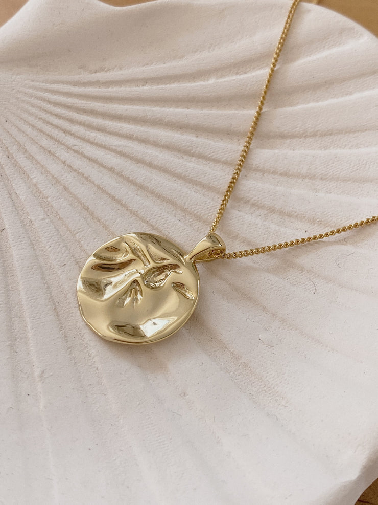 Ripple Circle Pendant Necklace
