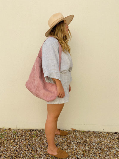 Blush Zyan Corduory Bag
