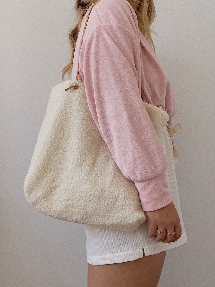 Cream Wool Tote