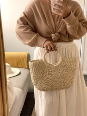 Lucinda Cream Straw bag
