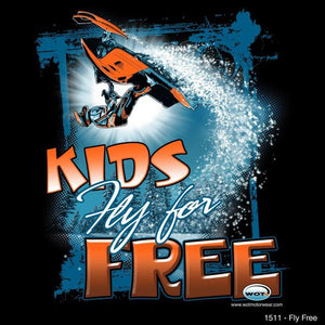 """Fly Free"" - Kids Snowmobile T-Shirt - wot-motorwear"
