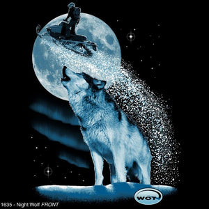 """Night Wolf"" - Men's Snowmobile T-Shirt - wot-motorwear"