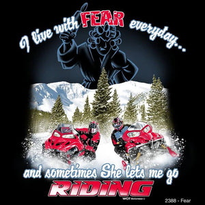 """Fear"" - Men's Snowmobile T-Shirt - wot-motorwear"