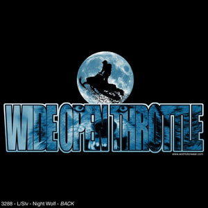 """Night Wolf"" - Men's Long Sleeve Snowmobile Shirt - wot-motorwear"