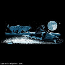 "Load image into Gallery viewer, ""Night Wolf"" - Men's Long Sleeve Snowmobile Shirt - wot-motorwear"