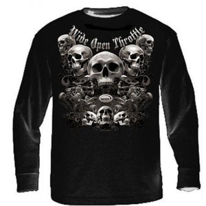 """Quad Skull"" - Men's ATV Long Sleeve Shirt - wot-motorwear"