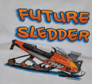 """Future Sledder"" - Toddler Diaper Snowmobile Shirt - wot-motorwear"