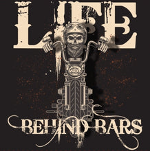"Load image into Gallery viewer, ""Life Behind Bars"" - Men's Motorcycle Shirt"