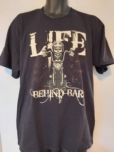 """Life Behind Bars"" - Men's Motorcycle Shirt"
