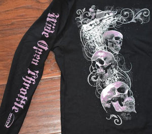 "Pink ""Skull"" - Women's Long Sleeve"