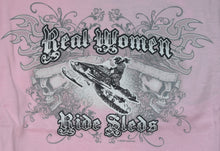 "Load image into Gallery viewer, ""Real Women"" - Women's Snowmobile T-Shirt - wot-motorwear"