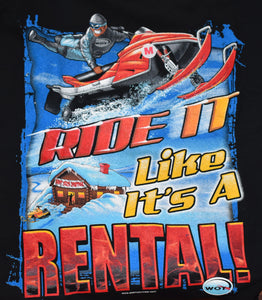 """Rental"" - Men's Long Sleeve Snowmobile Shirt - wot-motorwear"