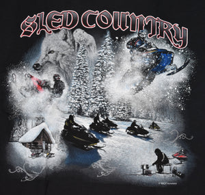 """Sled Country"" - Men's Snowmobile T-Shirt - wot-motorwear"