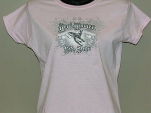 """Real Women"" - Women's Snowmobile T-Shirt - wot-motorwear"