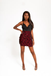 BLOOM MINI SKIRT WITH CURVED HEM