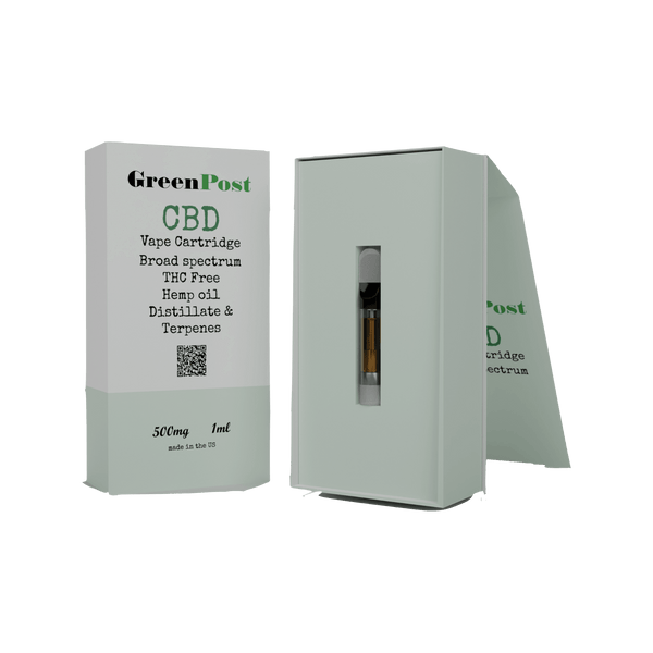 CBD Vape Cartridge 500 MG - Granddaddy Purple Hybrid