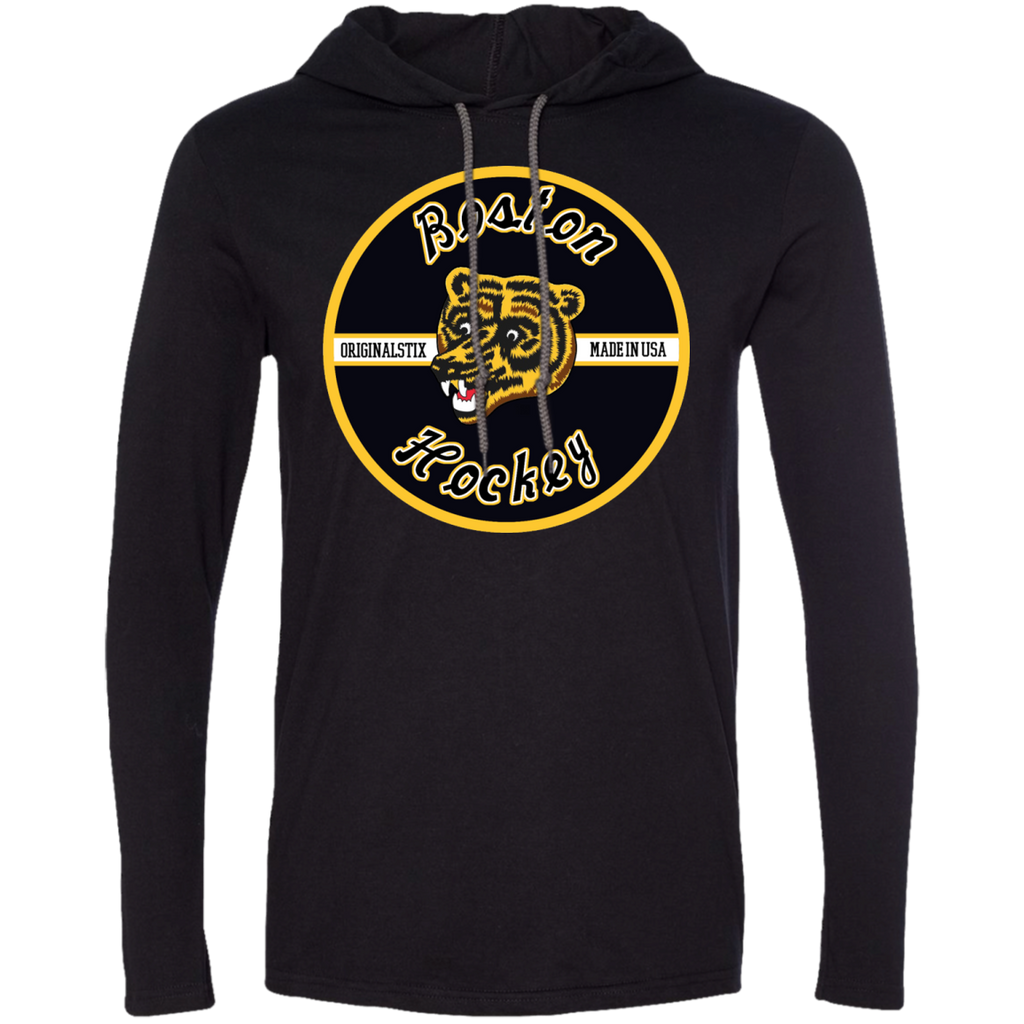 Small - Boston Hockey T-Shirt Hoodie - Original Stix