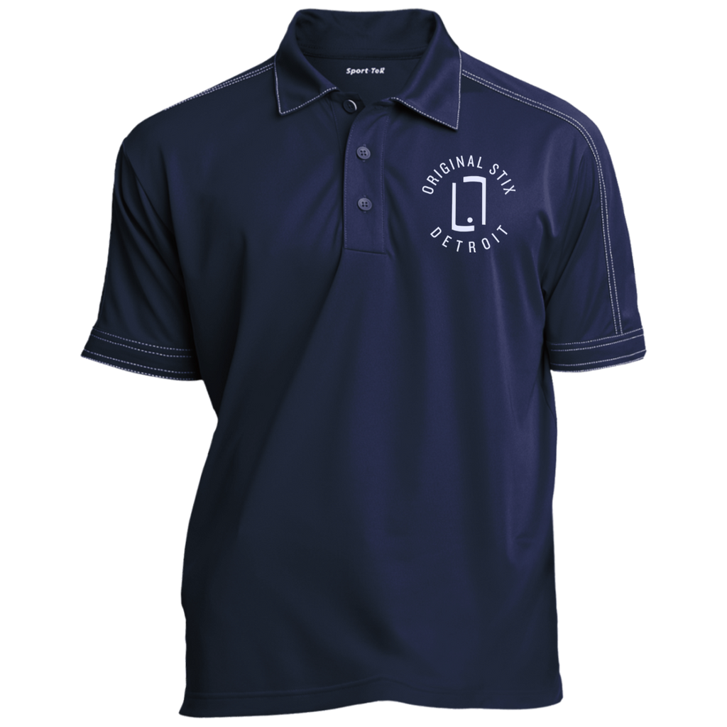 True Navy / X-Small - Contrast Stitch Embroidered Polo - Original Stix