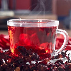 A warm cup of Eat Live Rosy Tea