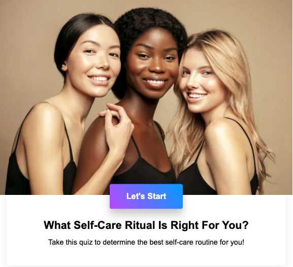 quiz best self-care routine personalized