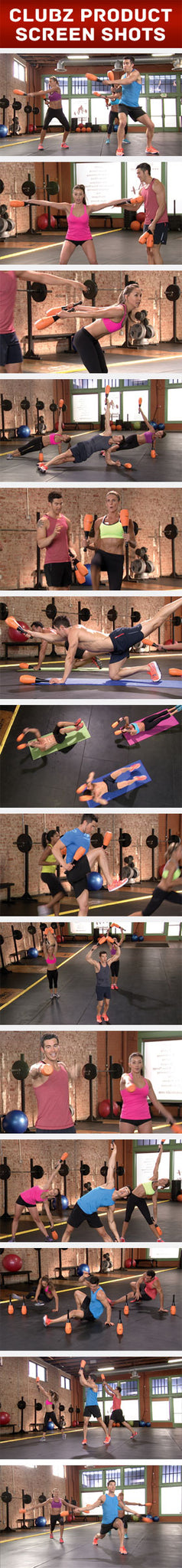 Clubz Fitness workout shots