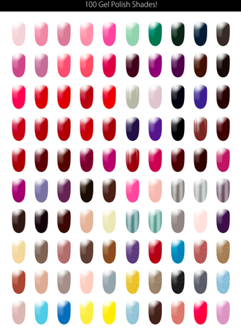 Range of polish colours