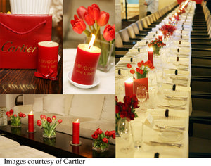 Bespoke candles for Cartier Love Day
