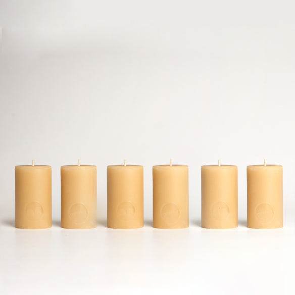 8cm Pillar Beeswax Candles | 20hr Burn Time