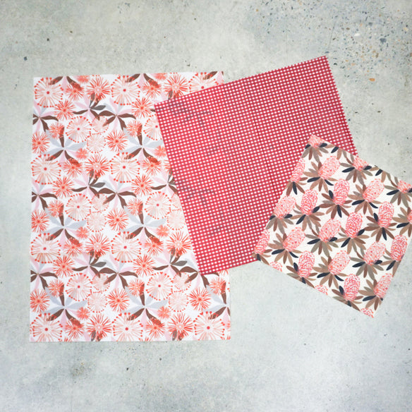 3 x Assorted Beeswax Wraps | Classic Collection