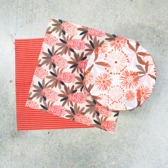 3 x Medium Beeswax Wraps | Classics