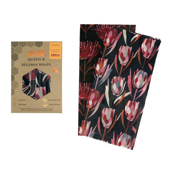 2 x Medium Beeswax Wraps | Jocelyn Proust