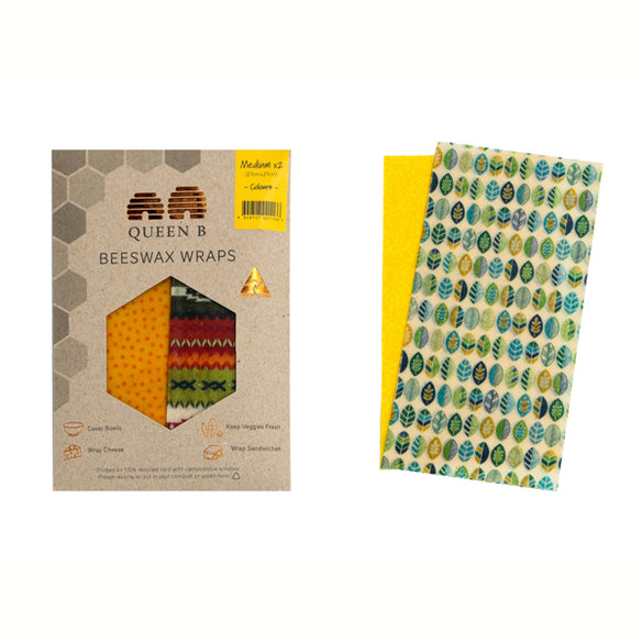 2 x Medium Beeswax Wraps | Classic Collection