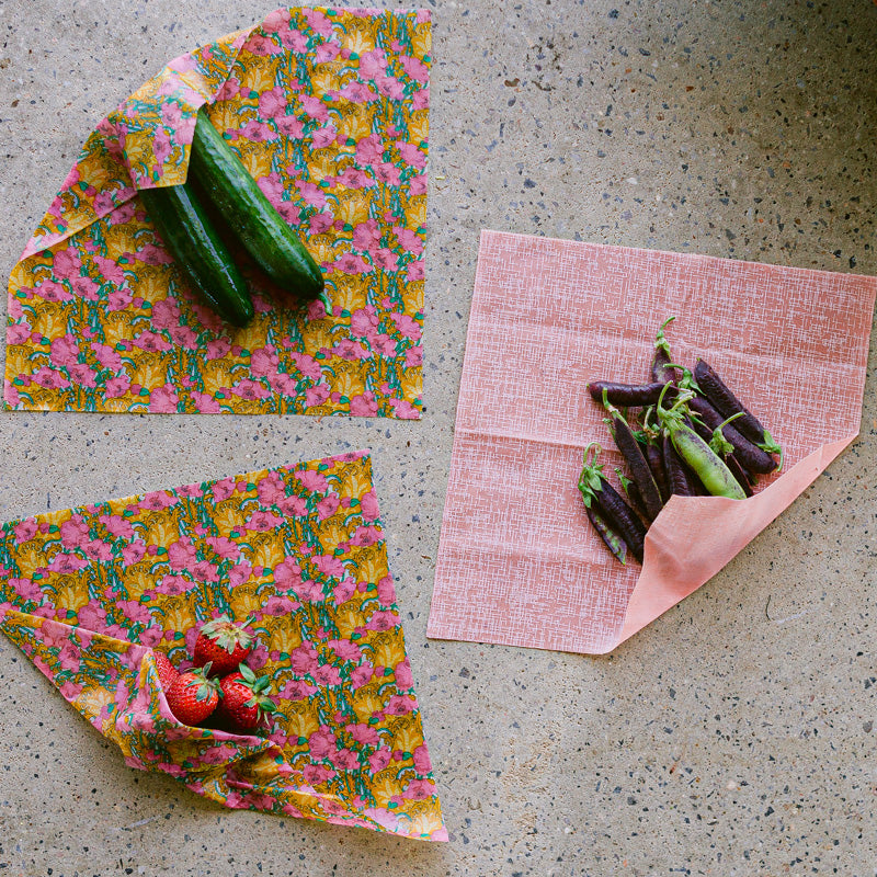 3 x Medium Beeswax Wraps | Made with Liberty Fabric