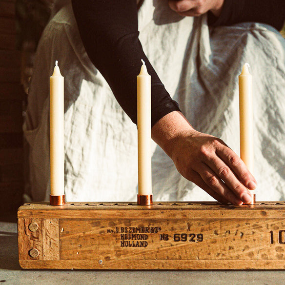 20cm Taper Beeswax Candles | 12hr Burn Time