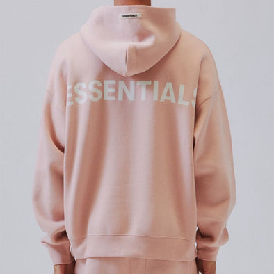 FEAR OF GOD ESSENTIALS Pink 3M Logo Pullover Hoodie