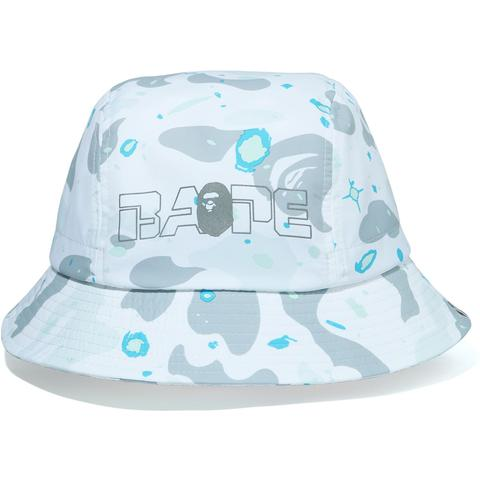 Bape Space Camo Bucket Hat (White)