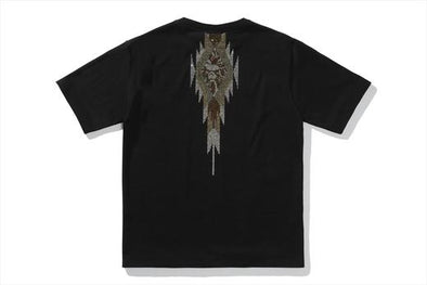 Bape Black Crystal Stone Native Pattern Tee