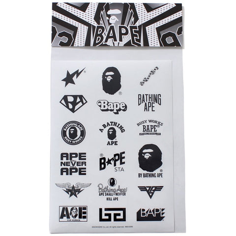 A Bathing Ape Multi Logo Sticker Set