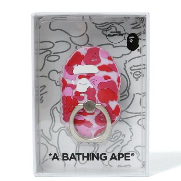 Bape Ape Head Smartphone Ring (Red)
