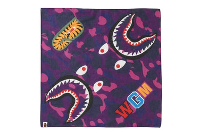Bape Color Camo Shark Bandana (Purple)