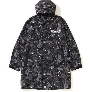 BAPE Space Camo Long rain Jacket ( Glow in the dark )