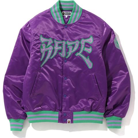 BAPE SATIN VARSITY JACKET