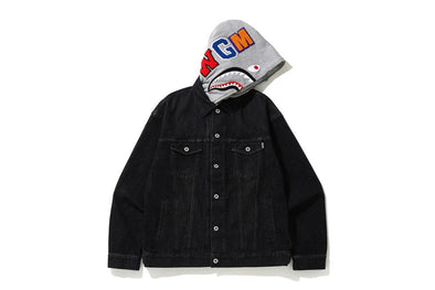 Bape Shark Denim Jacket (Black)