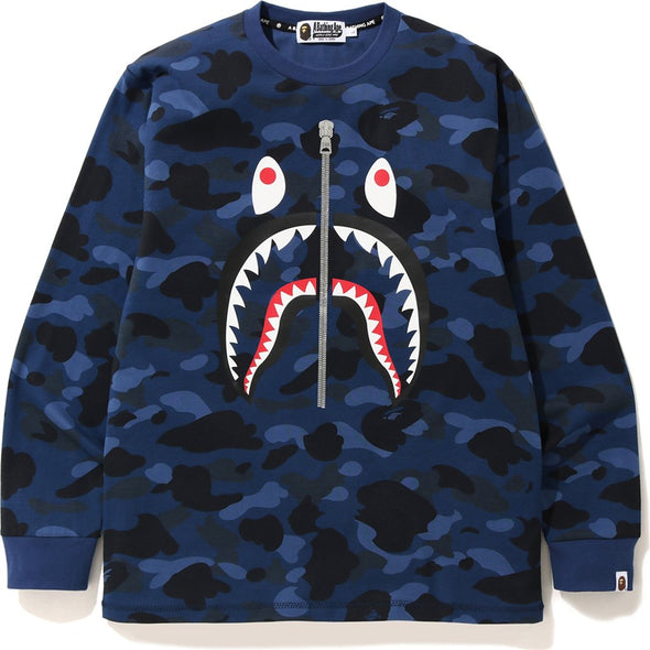 Bape Color Camo Shark L/S Tee (Blue)