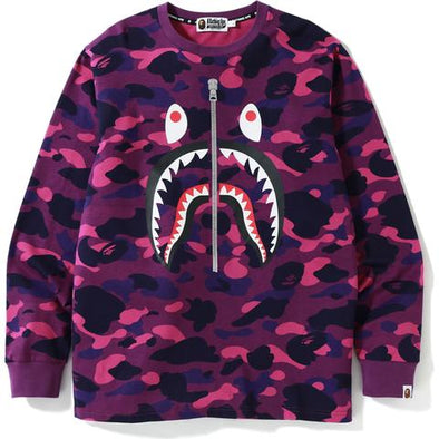 Bape Color Camo Shark L/S Tee (Purple)