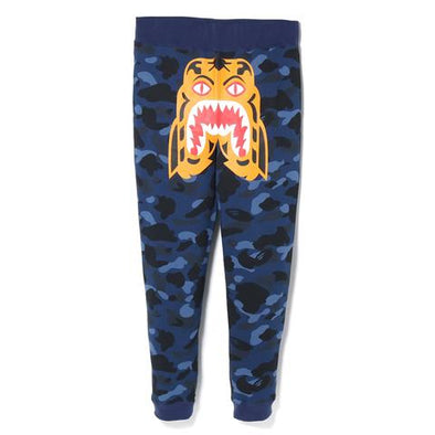 Bape Color Camo Tiger Slim Sweatpants (Blue)