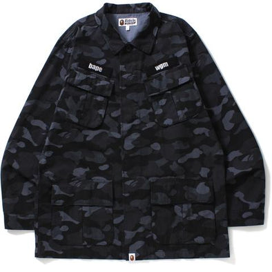 Bape Dot Camo Wide Utility Shirt Jacket